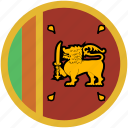 circle, flag, srilanka icon