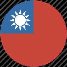 circle, flag, taiwan icon
