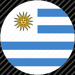 circle, flag, uruguay icon