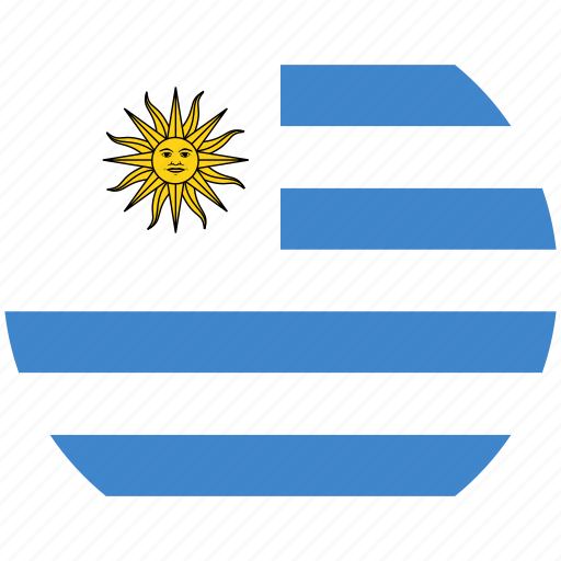 circle, flag, uruguay icon