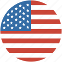 united, us, states, flag, circle, america