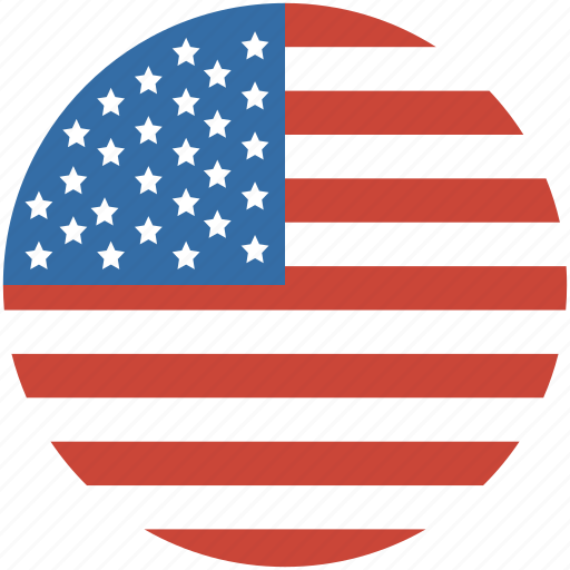 America circle flag states united us icon icon search engine