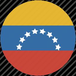 circle, flag, venezuela icon