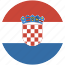 circle, croatia, flag icon