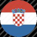 circle, croatia, flag icon