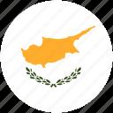 circle, cyprus, flag icon