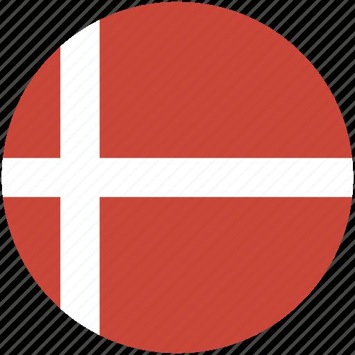 circle, denmark, flag icon