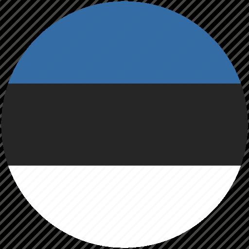 circle, estonia, flag icon