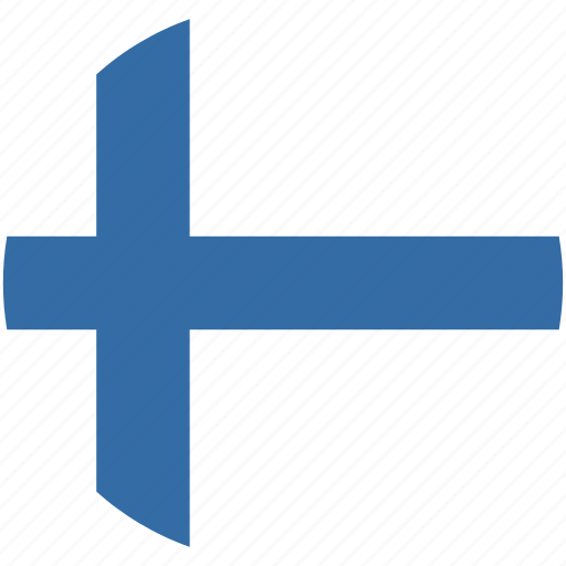 circle, finland, flag icon