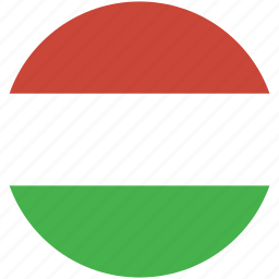 circle, flag, hungary icon
