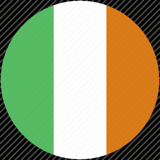 circle, flag, ireland icon