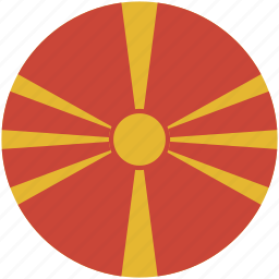 circle, flag, macedonia icon