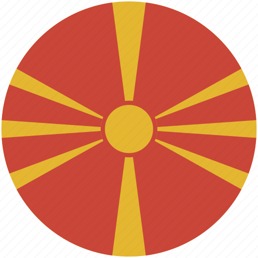 Image result for macedonia flag circle