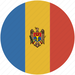 circle, flag, moldova icon