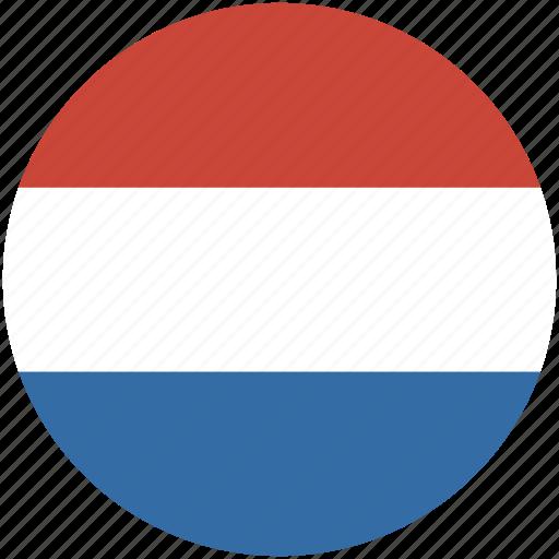 circle, flag, netherlands icon