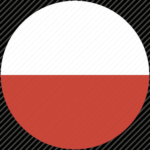 circle, flag, poland icon