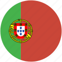 circle, flag, portugal icon