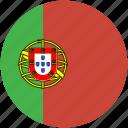 circle, flag, portugal