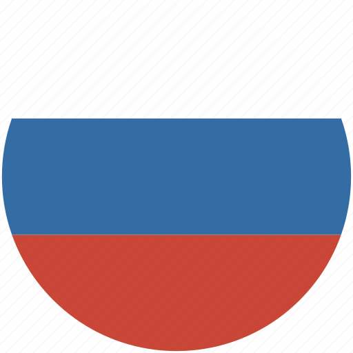 circle, flag, russia icon
