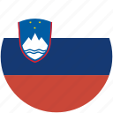 circle, flag, slovenia icon