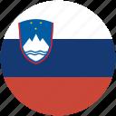 slovenia, circle, flag