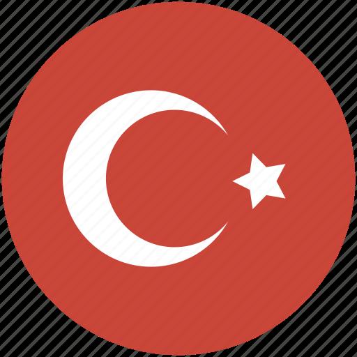 circle, flag, turkey icon