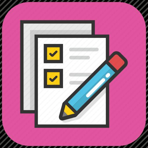 checklist, documents, list, schedule, task icon