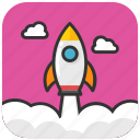 missile, rocket, space shuttle, spacecraft, spaceship icon