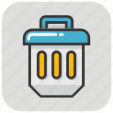 dumpster, dustbin, garbage can, trash can, wastebin icon