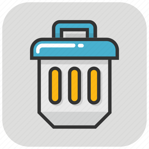 dumpster, dustbin, garbage can, trash can, wastebin icon