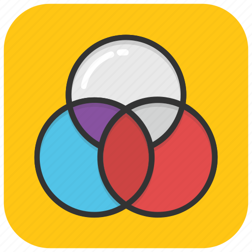 circle diagram, circle intersection, graphic design, overlap, slide template icon
