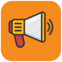 alert, announcement, bullhorn, loud hailer, megaphone icon