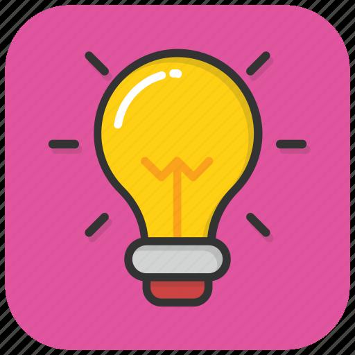 bulb, electric light, idea, illumination, light bulb icon
