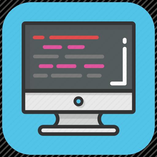 coding, html, monitor, programming, source code, web development icon