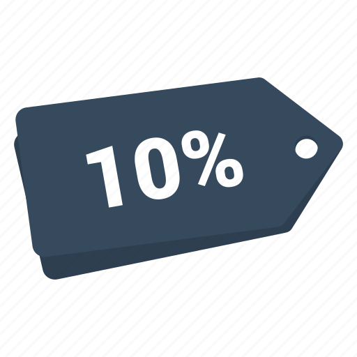 accounts, discount 10%, label, promotion, sale, sale tag, tag icon