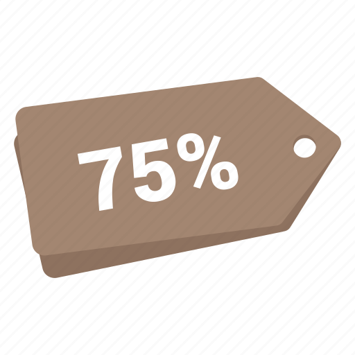 accounts, discount brown tag, label, promotion, sale, tag icon