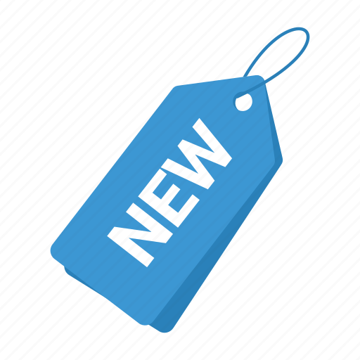 accounts, blue tag, label, new tag, promotion, sale, tag icon