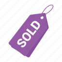 accounts, girls shopping tag, label, promotion, purple tag, sale, tag icon