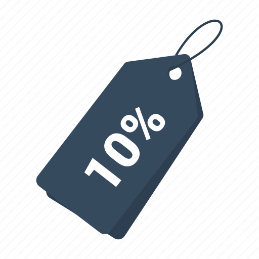 accounts, discount 10, label, promotion, sale, sale tag, tag icon