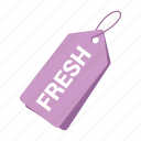 accounts, fresh tag, label, promotion, purple tag, sale, tag icon