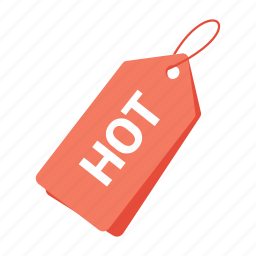accounts, hot tag, label, orange tag, promotion, sale, tag icon