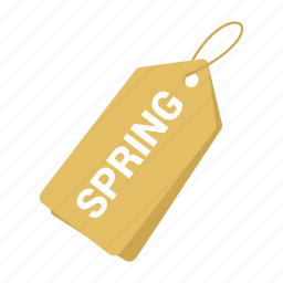 accounts, label, promotion, sale, spring tag, tag, yellow tag icon