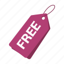 accounts, free tag, label, promotion, purple tag, sale, tag icon