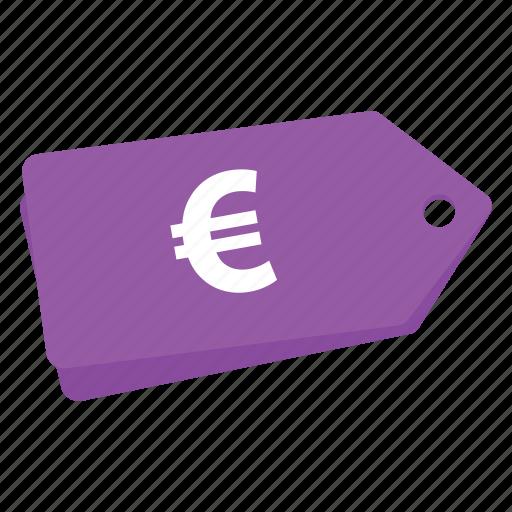 accounts, euro, euro purple sale tag, label, promotion, sale, tag icon