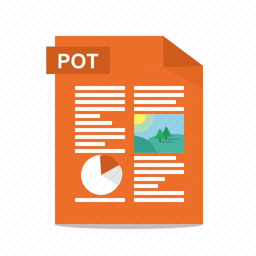 file, format, pot, power point, powerpoint, presentation, slides icon