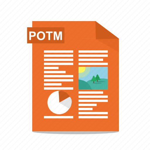 file, format, potm, power point, powerpoint, presentation, slides icon
