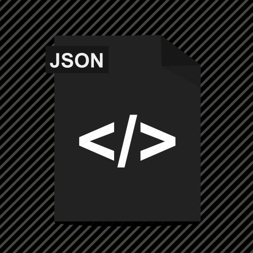 file, format, javascript, js, json icon