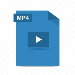 file, film, format, movie, mp4, play, video icon