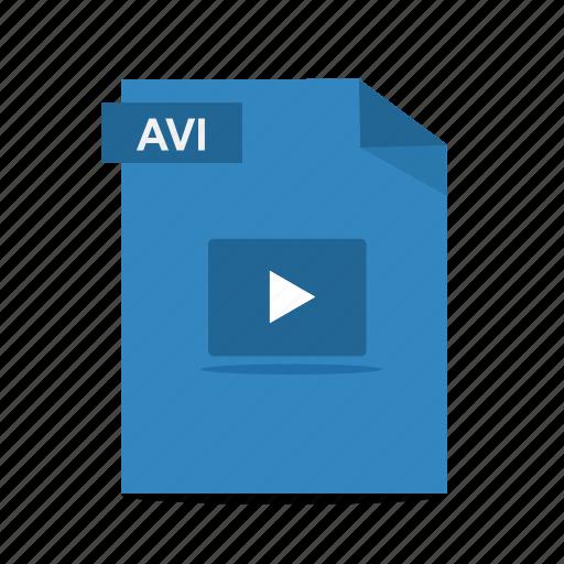 avi, file, film, format, movie, play, video icon