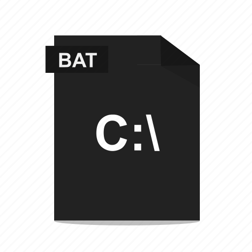 bat, batch, cmd, command, executable, file, format icon